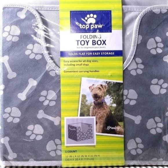 Top paw dog animal cat toy storage box